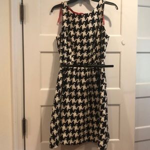 Jessica Simpson Houndstooth Fit and Flare Dress
